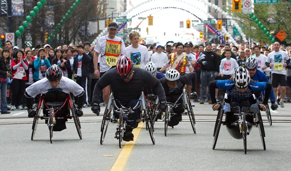 Vancouver Sun Run Wheelchair division